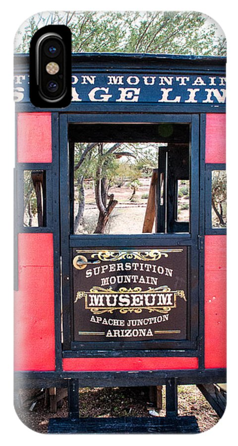 Stagecoach IPhone X Case featuring the photograph Staged by Diane Wood