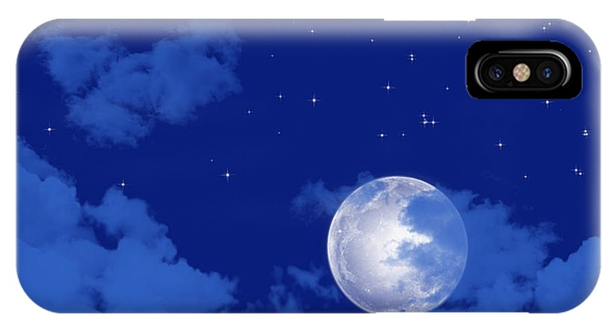 Background IPhone X Case featuring the digital art Starry Night View by IB Photography