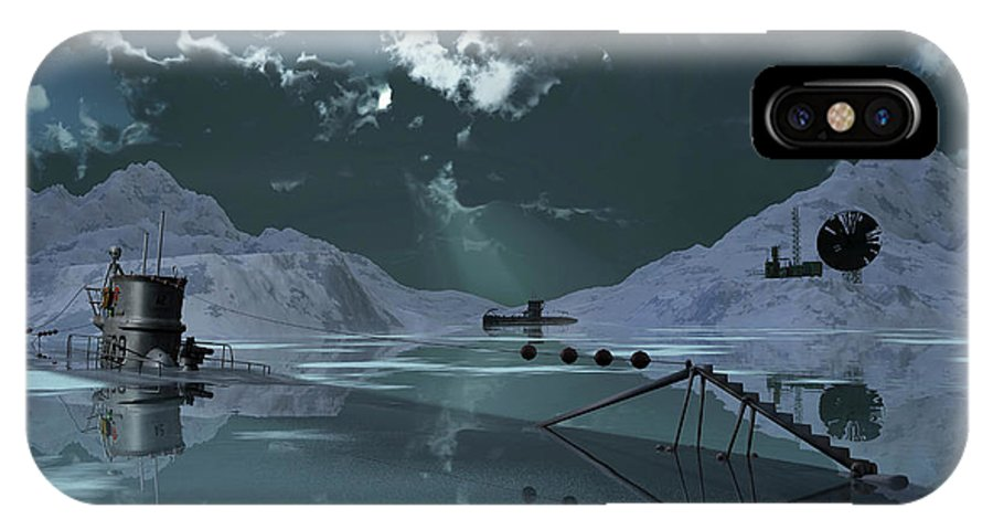 Horizontal IPhone X Case featuring the photograph Station 211 Alien Nazi Base Located by Mark Stevenson