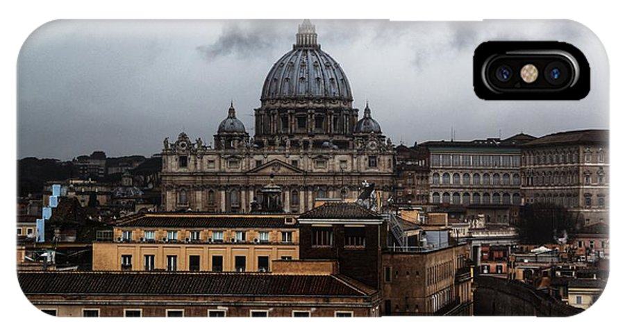 St. Peter's. Rome. Storm. Weather. IPhone X Case featuring the photograph Storm Over St. Peter's by Michael Paskvan