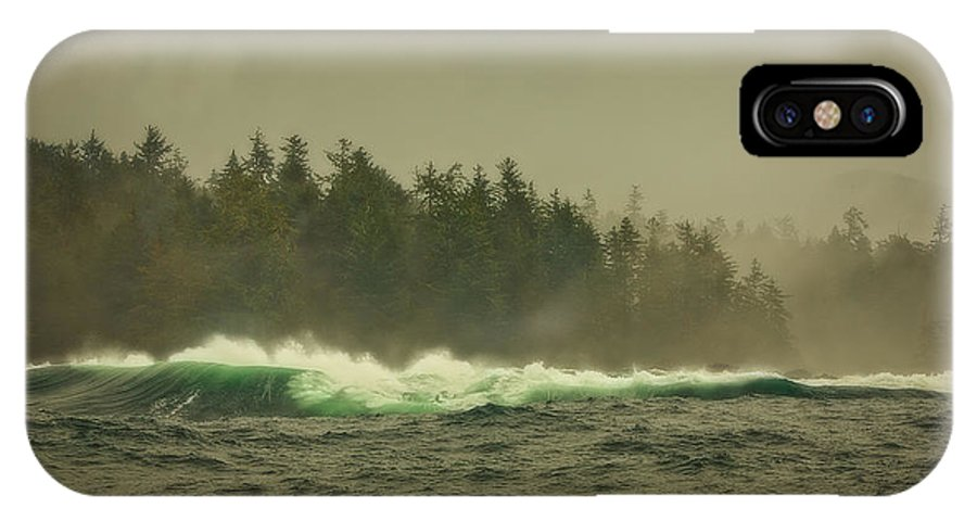 Ocean IPhone X Case featuring the photograph Stormy Day by Naman Imagery
