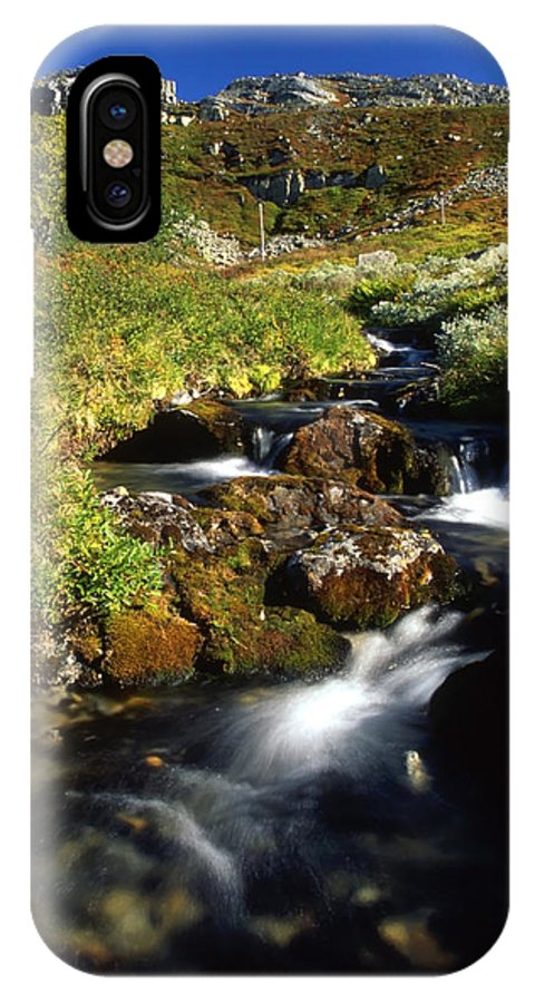 Stream IPhone X Case featuring the photograph Stream In Mountain by IB Photography
