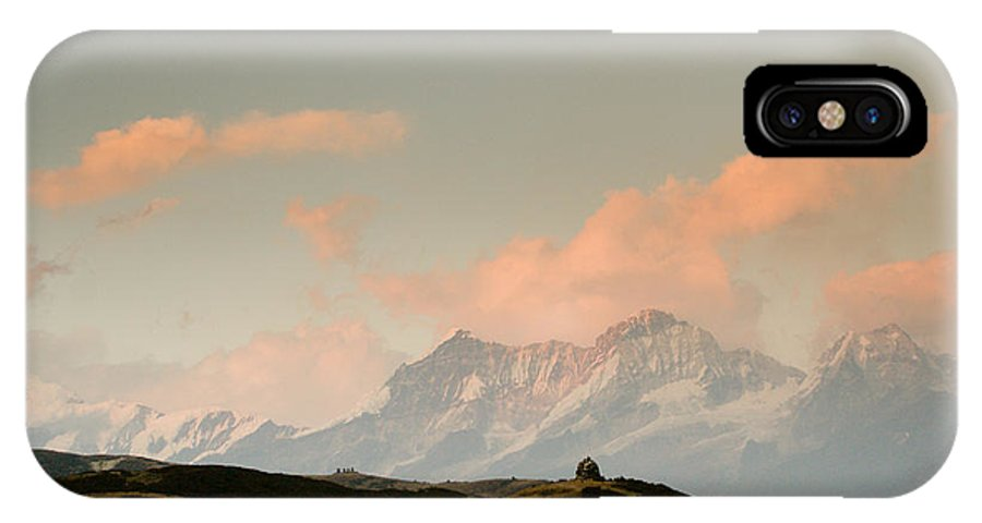 Himalayas IPhone X / XS Case featuring the photograph Stupas And The Himalayas by Helix Games Photography