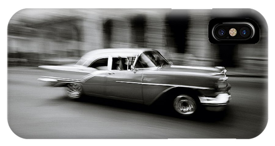 American Car IPhone X Case featuring the photograph The Zen Of Havana by Shaun Higson