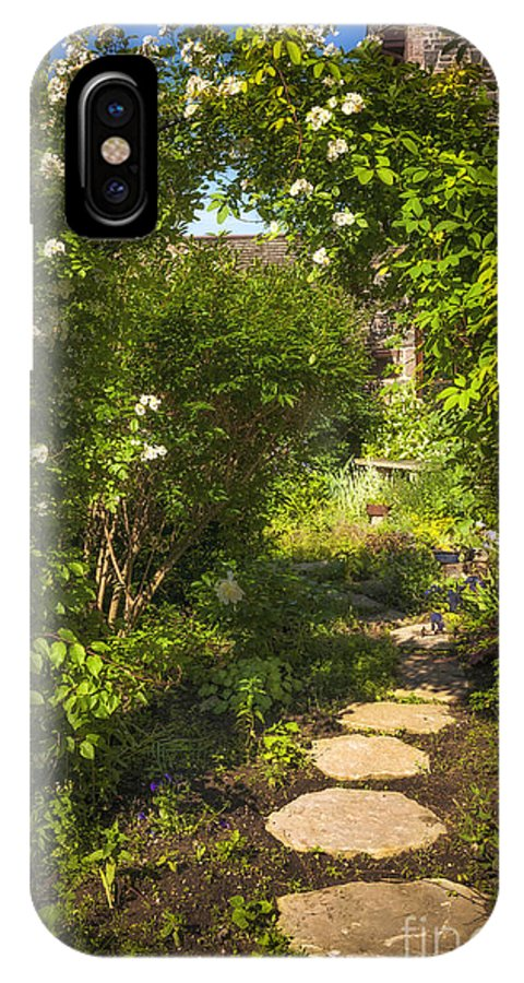 Garden IPhone X Case featuring the photograph Summer Garden And Path by Elena Elisseeva