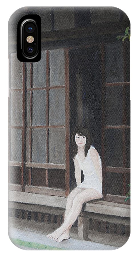 Summer IPhone X Case featuring the painting Summer Weekend by Masami Iida