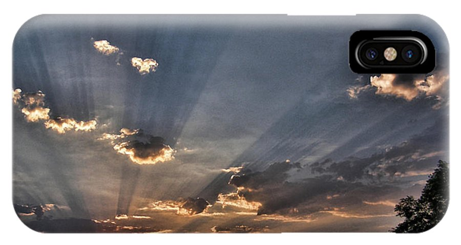 Sunrise IPhone X Case featuring the photograph Sunrise Glory by Shannon Story