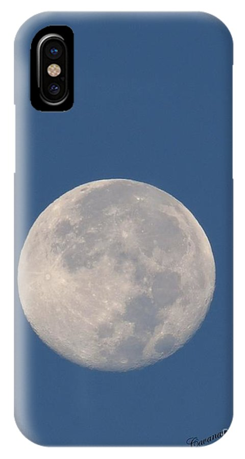 Hunter IPhone X Case featuring the photograph Sunrise Moon by Donna Cavanaugh