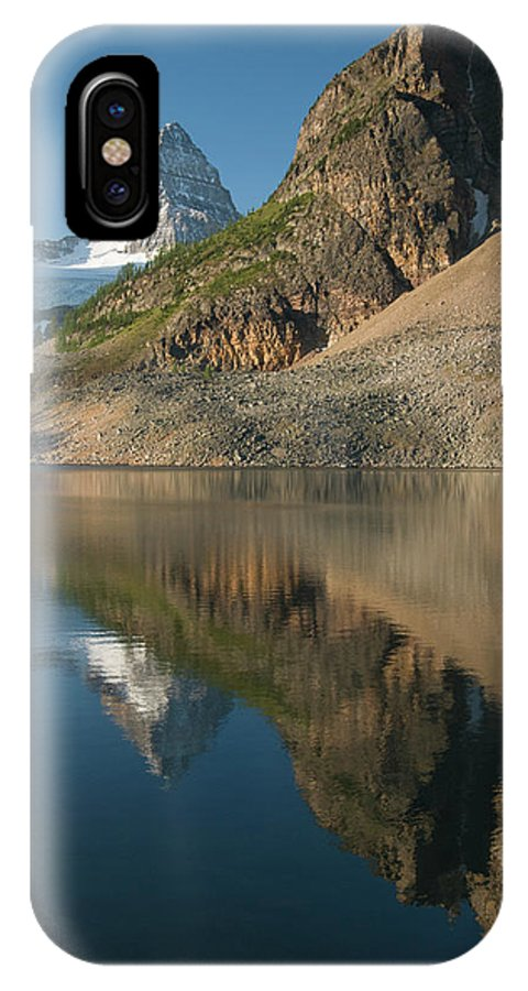 Absence IPhone X Case featuring the photograph Sunrise On Mount Assiniboine In Mount by Kennan Harvey