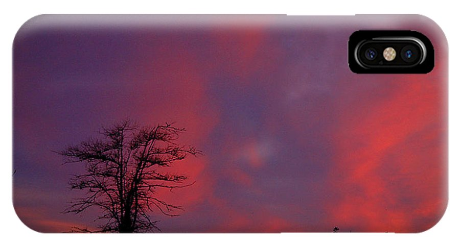 Sunset IPhone X Case featuring the photograph Sunset by Alana Ranney