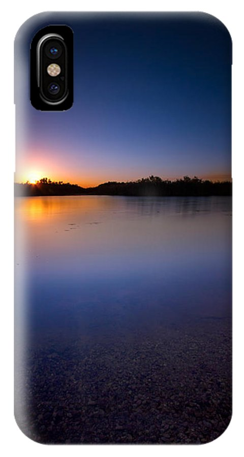 Sunset IPhone X Case featuring the photograph Sunset Creek by Mark Andrew Thomas
