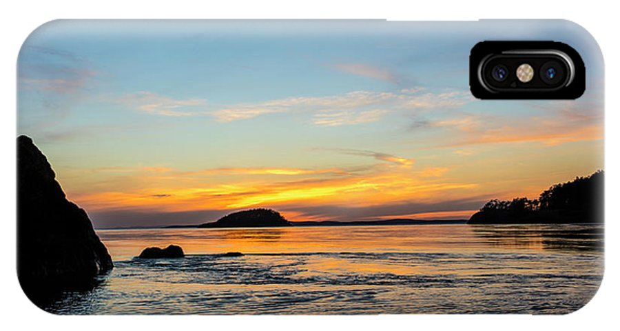 Chuck Haney IPhone X Case featuring the photograph Sunset From North Beach With Deception by Chuck Haney