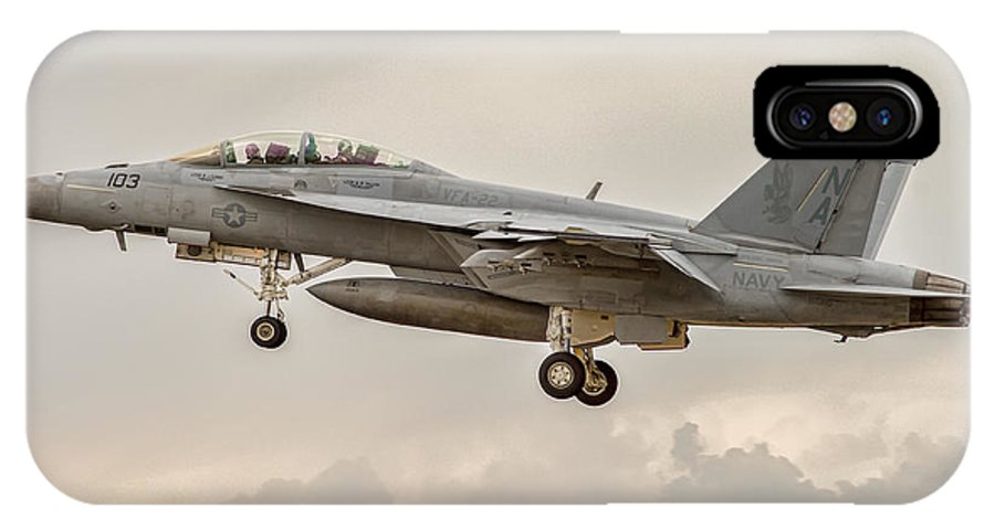 Aviation IPhone X Case featuring the photograph Super Hornet by Nathan Gingles