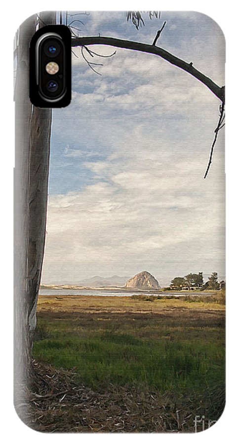 Morro Rock IPhone X Case featuring the digital art Sweet Water View by Sharon Foster