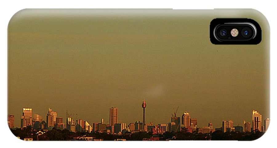 Sydney IPhone X Case featuring the photograph Sydney Sunset by Girish J
