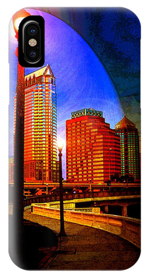 Tampa Bay Florida IPhone X Case featuring the photograph Tampa History In Reflection by David Lee Thompson