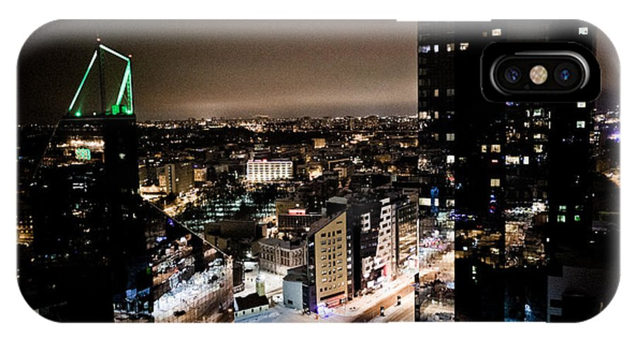 Cities IPhone X Case featuring the photograph Tallinn At Night by Raimond Klavins