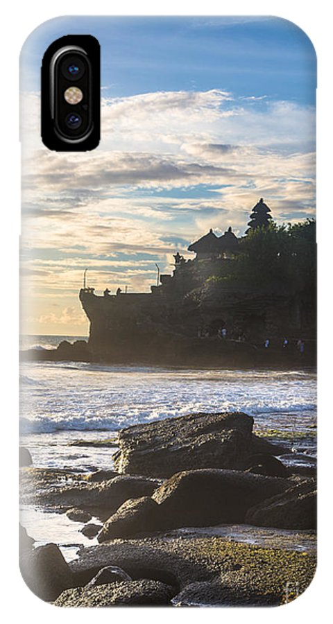 Indonesia IPhone X Case featuring the photograph Tanah Lot Temple by Didier Marti