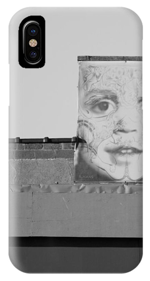 Brooklyn IPhone X Case featuring the photograph The Face In Black And White by Rob Hans