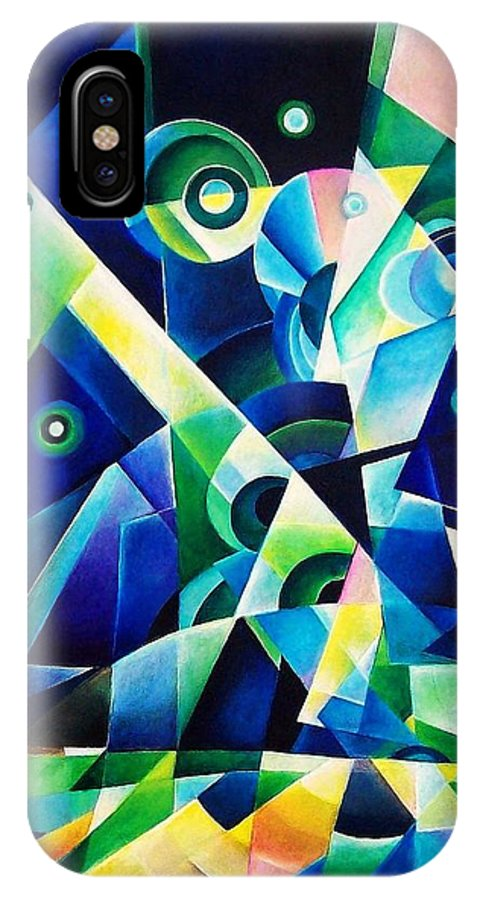Gates Acrylics Abstract IPhone Case featuring the painting The Gates by Wolfgang Schweizer