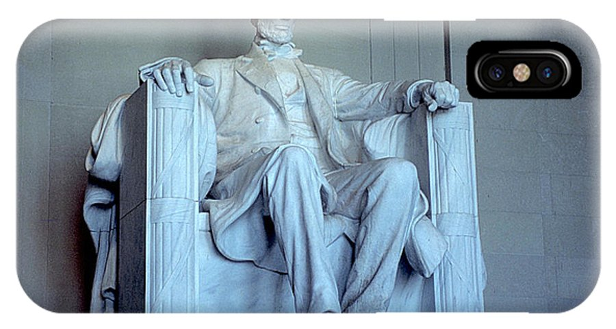 White Marble IPhone X Case featuring the photograph The Great Emancipator by Carl Purcell