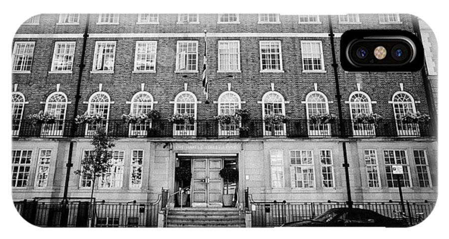 Harley IPhone X Case featuring the photograph the harley street clinic private hospital London England UK by Joe Fox