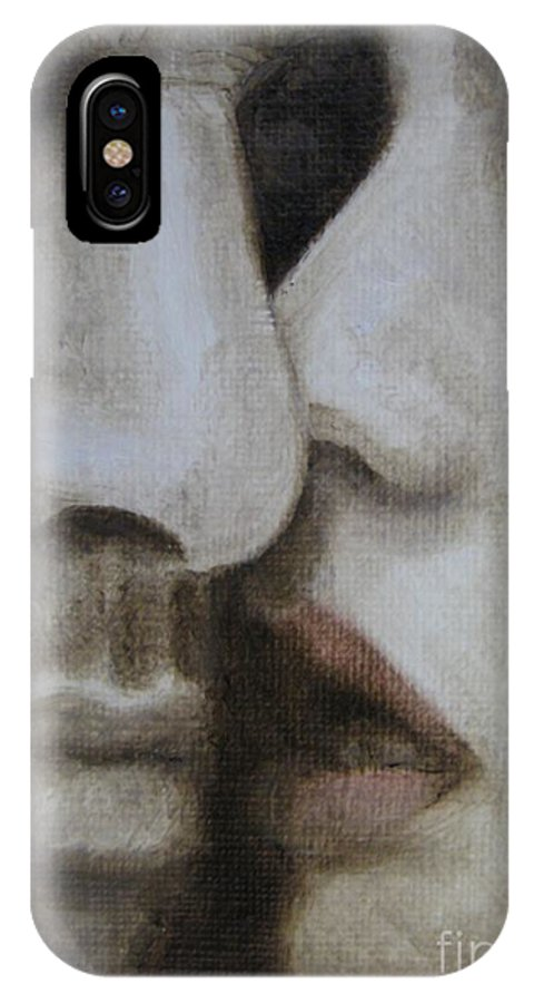 Noewi IPhone X Case featuring the painting The Kiss by Jindra Noewi