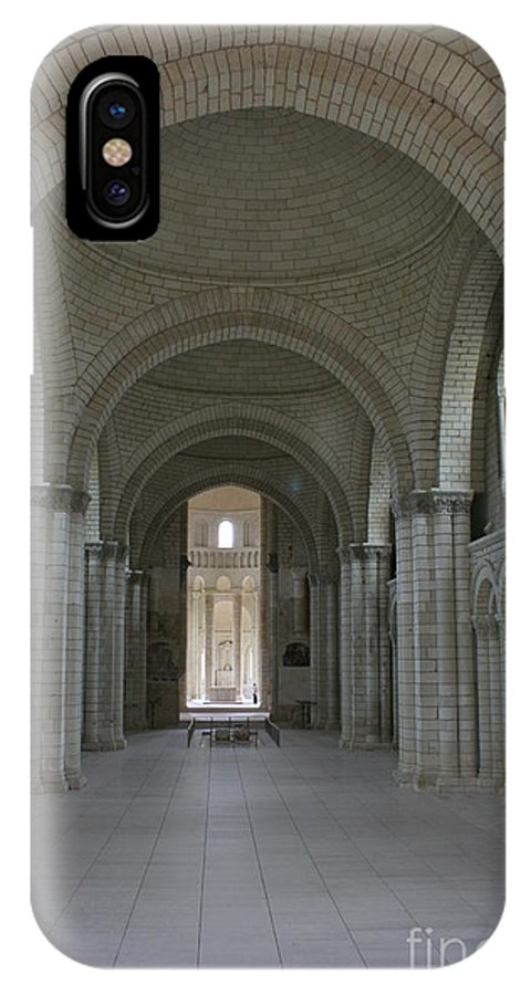 Nave IPhone X Case featuring the photograph The Nave - Cloister Fontevraud by Christiane Schulze Art And Photography
