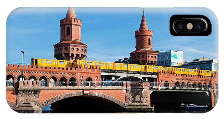 Oberbaum IPhone X Case featuring the photograph The Oberbaum Bridge In Berlin Germany by Michal Bednarek