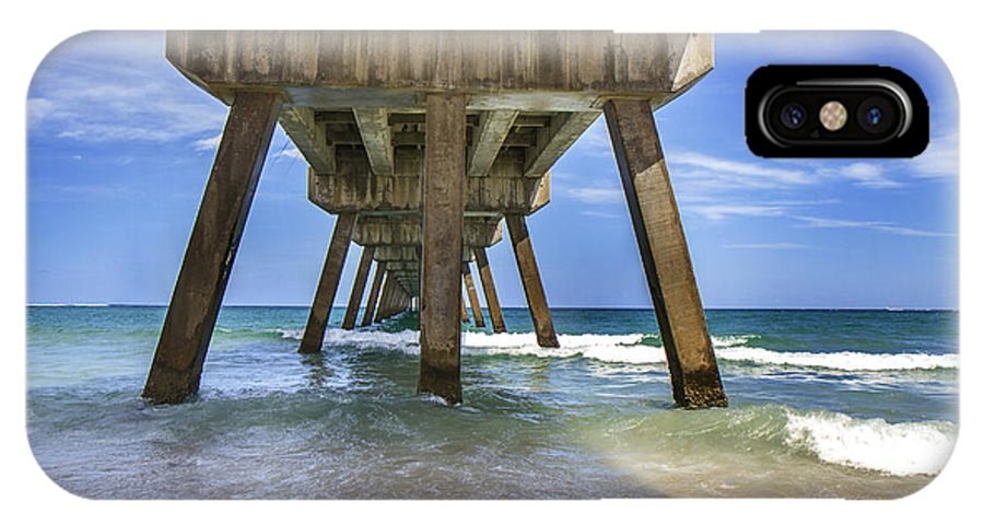 Miami IPhone X Case featuring the photograph The Pier by Frank Molina
