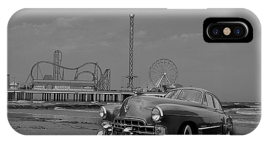 Galveston IPhone X Case featuring the photograph The Pier by Hilton Barlow
