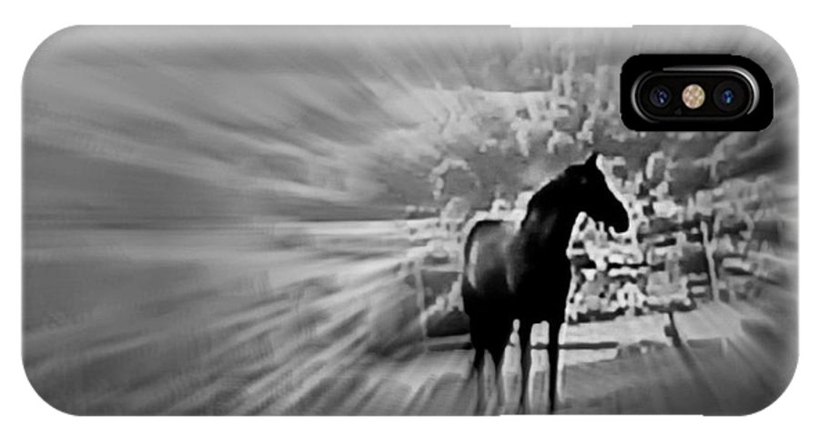 Horse Racing IPhone X Case featuring the digital art The Rhythms Of Life by Meiers Daniel