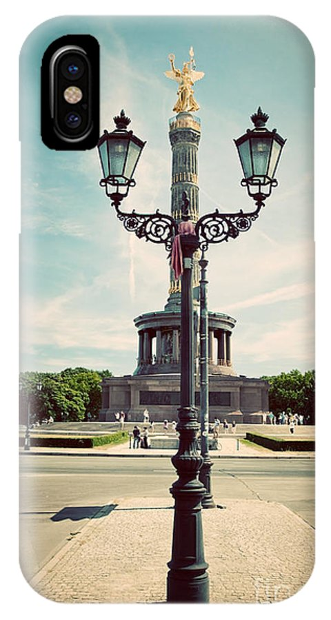 Berlin IPhone X Case featuring the photograph The Victory Column In Berlin Germany by Michal Bednarek