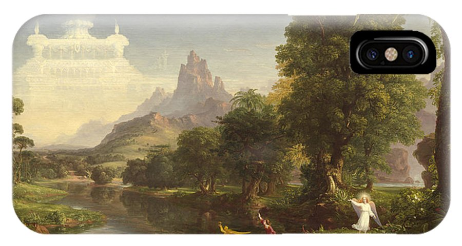 Thomas Cole IPhone X Case featuring the painting The Voyage Of Life Youth by Thomas Cole