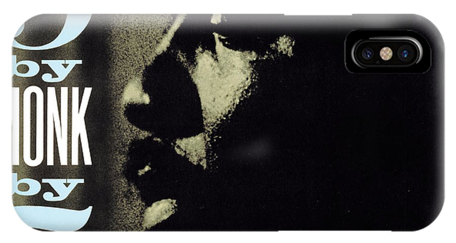 Jazz IPhone X Case featuring the digital art Thelonious Monk - 5 By Monk By 5 by Concord Music Group