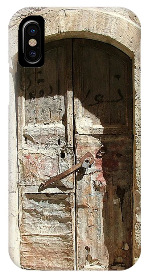 Old Door IPhone X Case featuring the photograph Time After Time by Rita Adams