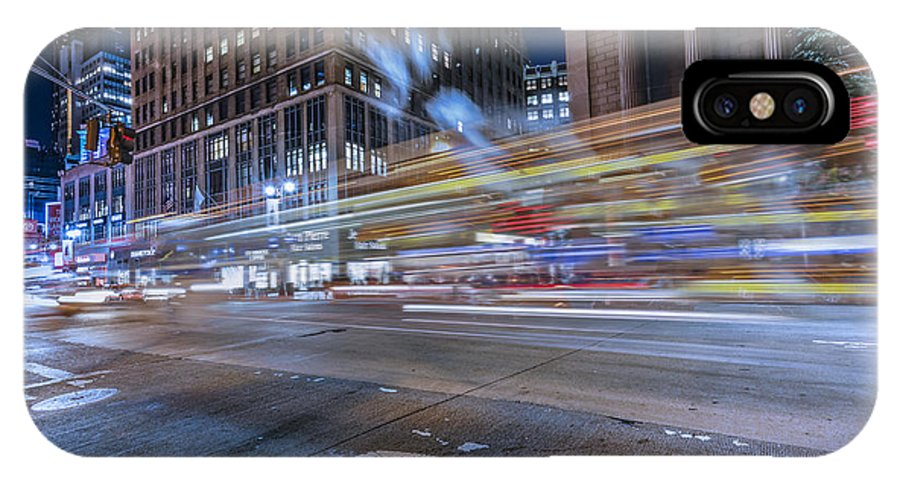 Travel IPhone X Case featuring the photograph Time Square by Peter Lakomy