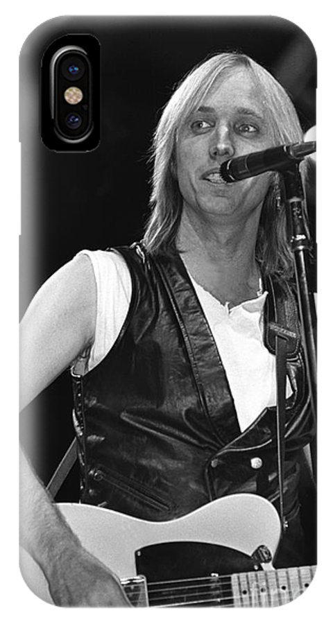 Singer IPhone X Case featuring the photograph Tom Petty And The Heartbreakers by Concert Photos