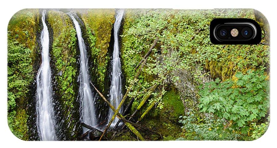 Rainforest IPhone X / XS Case featuring the photograph Triple Falls by Oscar Gutierrez