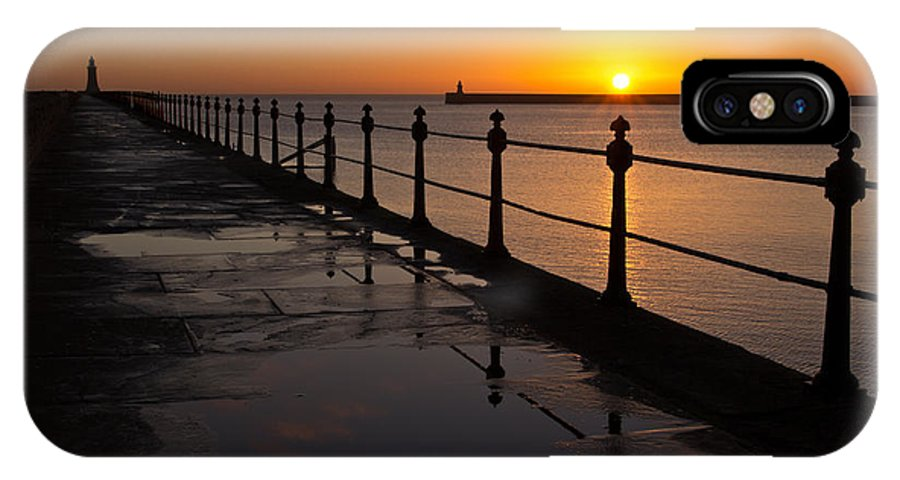 Tynemouth IPhone X Case featuring the photograph Tynemouth Pier Sunrise by David Pringle