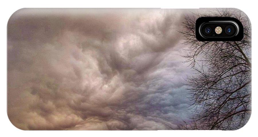 Clouds IPhone X Case featuring the photograph Undulatus Asperatus Clouds by Nancy Koehler