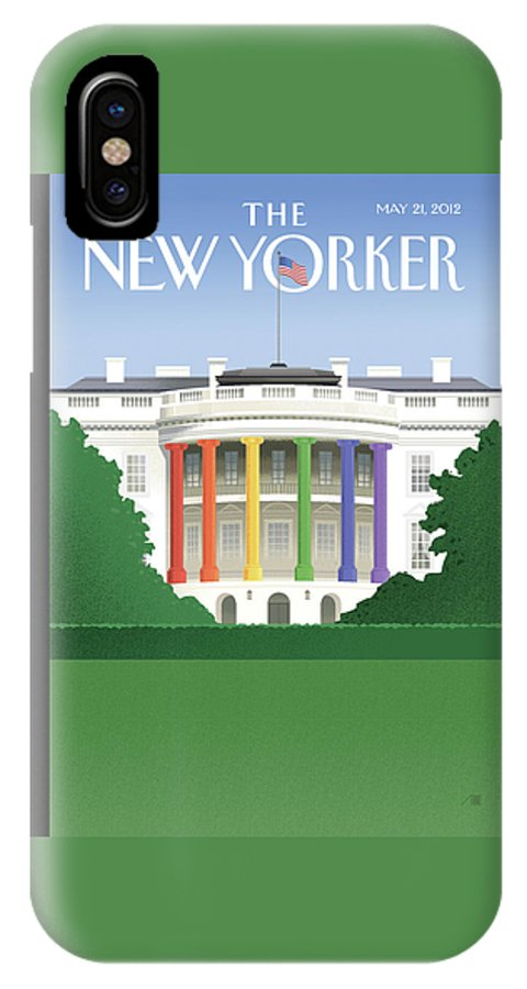 President IPhone X Case featuring the painting Spectrum Of Light by Bob Staake