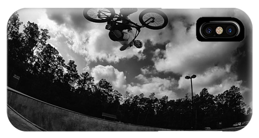 Bmx IPhone X Case featuring the photograph Upside Down by Mick Logan