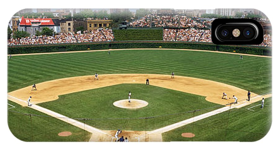 Photography IPhone X Case featuring the photograph Usa, Illinois, Chicago, Cubs, Baseball by Panoramic Images