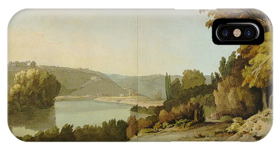 Veduta Del Teverefrancis Towne IPhone X / XS Case featuring the painting Veduta Del Tevere by Celestial Images