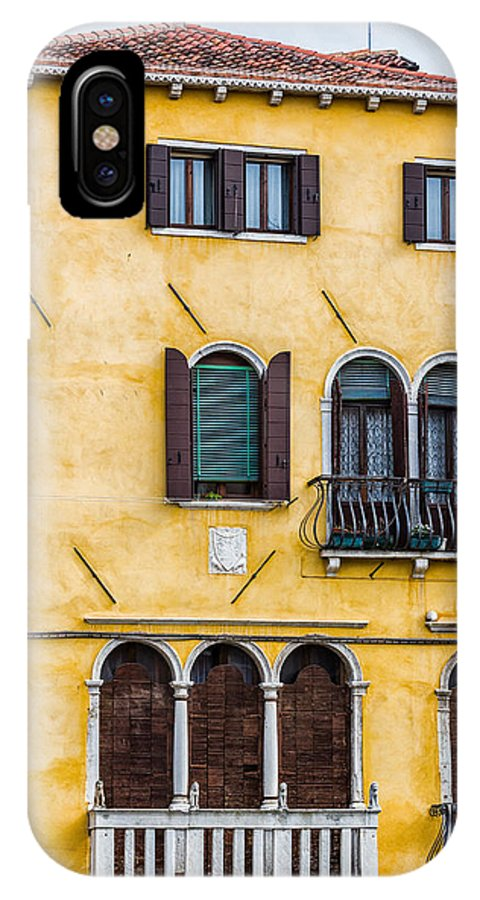 Italy IPhone X Case featuring the photograph Venetian Building by Francesco Rizzato