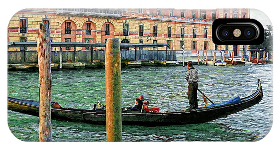 Italy IPhone X Case featuring the photograph Venice Gondola by Timothy Hacker