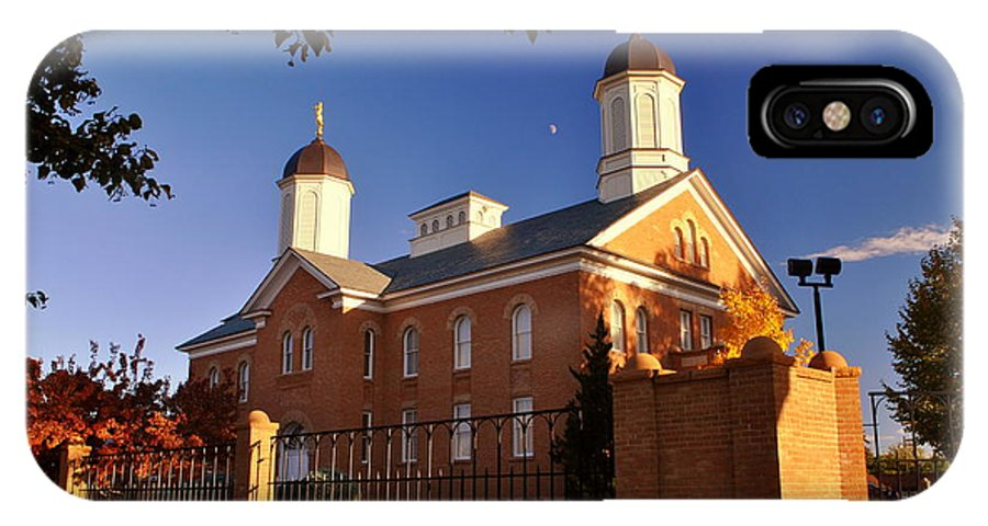 Lds IPhone X Case featuring the photograph Vernal Utah Lds Temple by Nathan Abbott