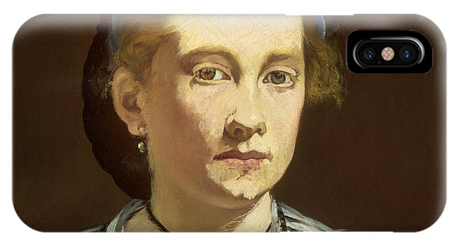 Edouard Manet IPhone X Case featuring the painting Victorine Meurent by Celestial Images