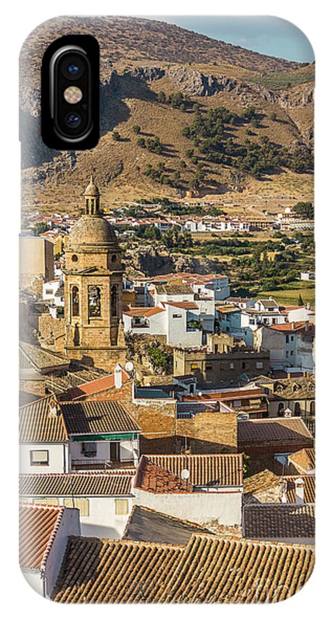 Hill IPhone X Case featuring the photograph View Of The Town Loja In Granada Province by Dragomir Nikolov